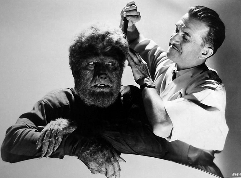 THE WOLF MAN IN MAKE-UP