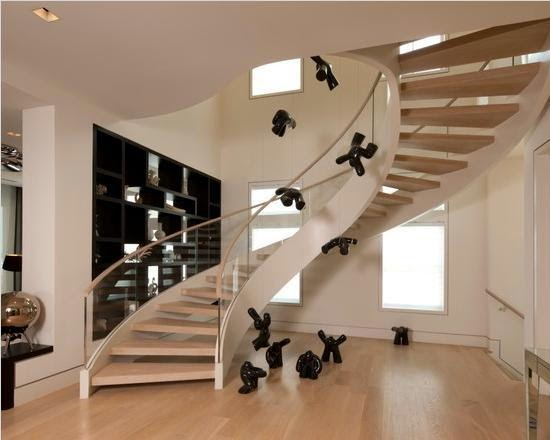 contemporary-modern-curved stairs - 1