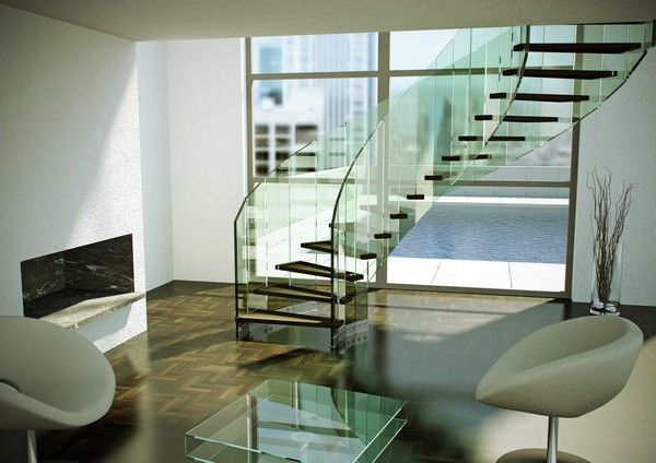 contemporary-modern-curved stairs - 13