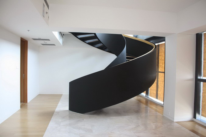 contemporary-modern-curved stairs - 16