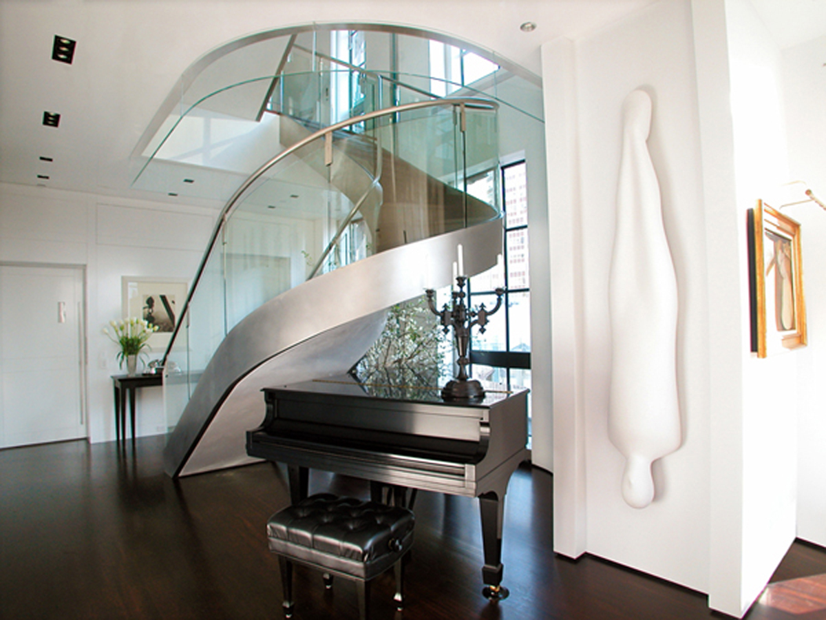 contemporary-modern-curved stairs - 19
