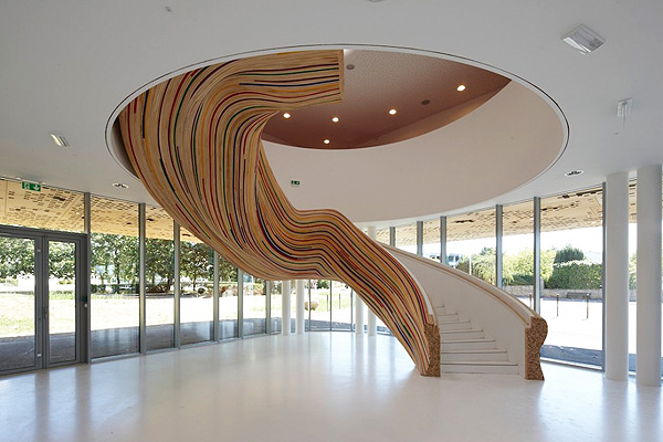 contemporary-modern-curved stairs - 2