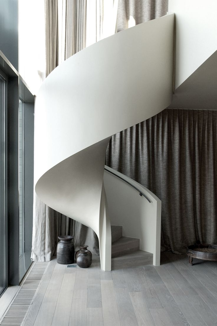 contemporary-modern-curved stairs - 4