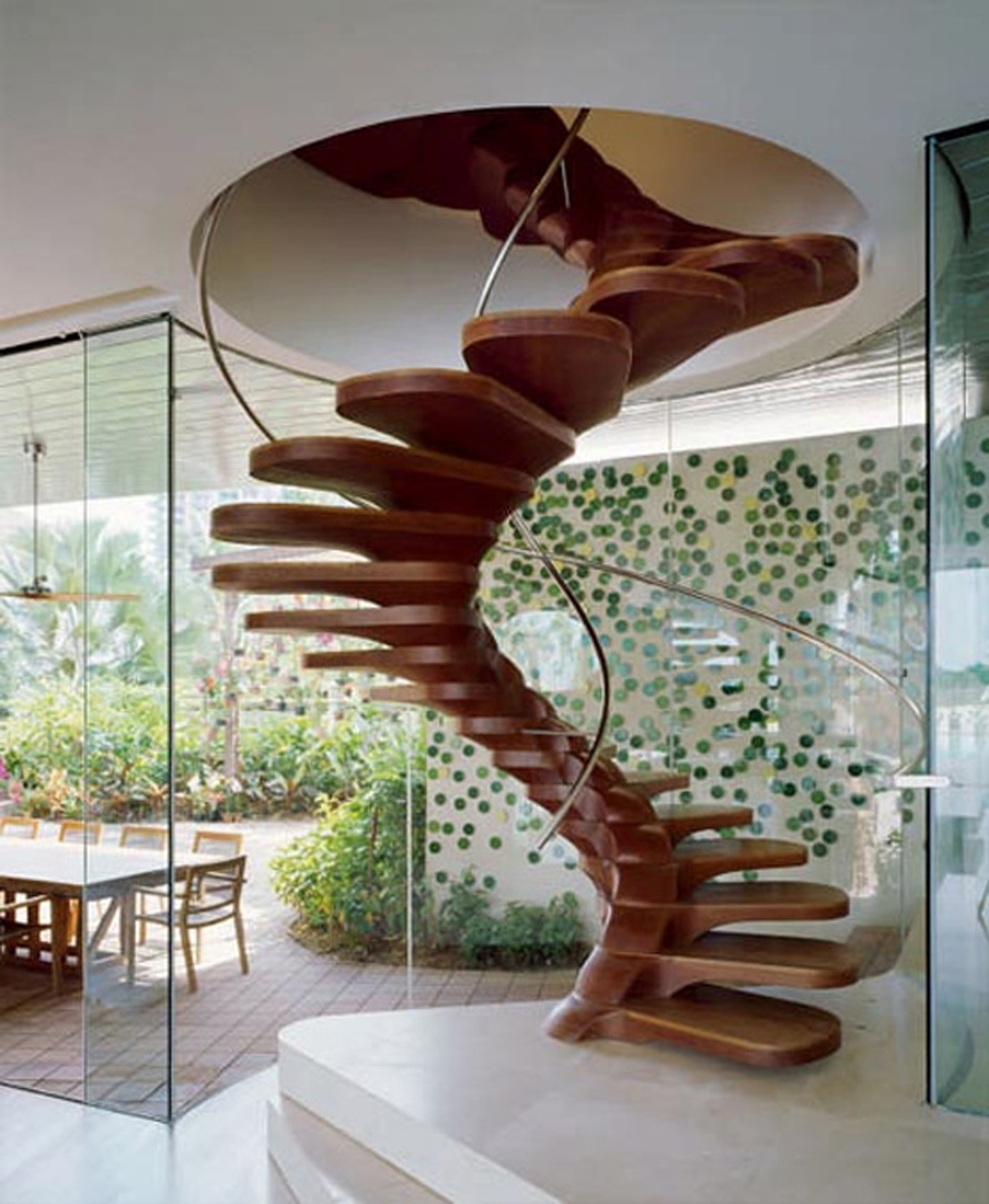 contemporary-modern-curved stairs - 6