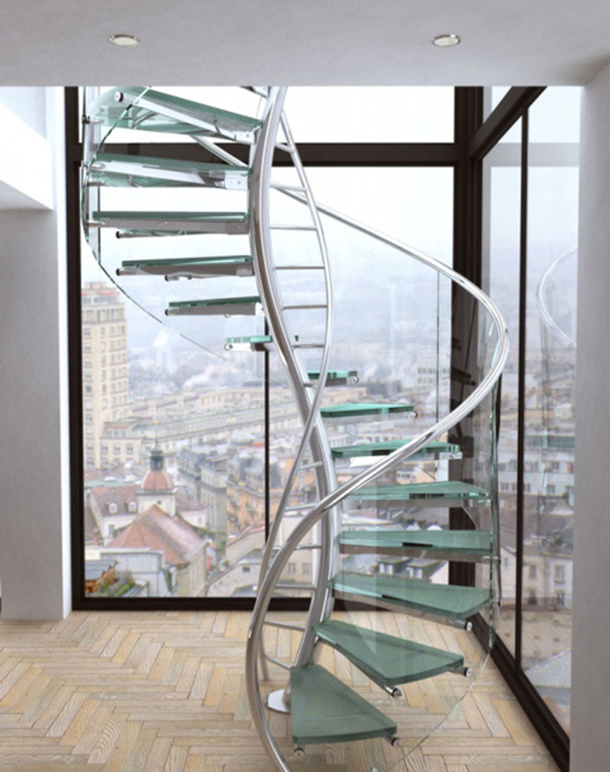 contemporary-modern-curved stairs - 62
