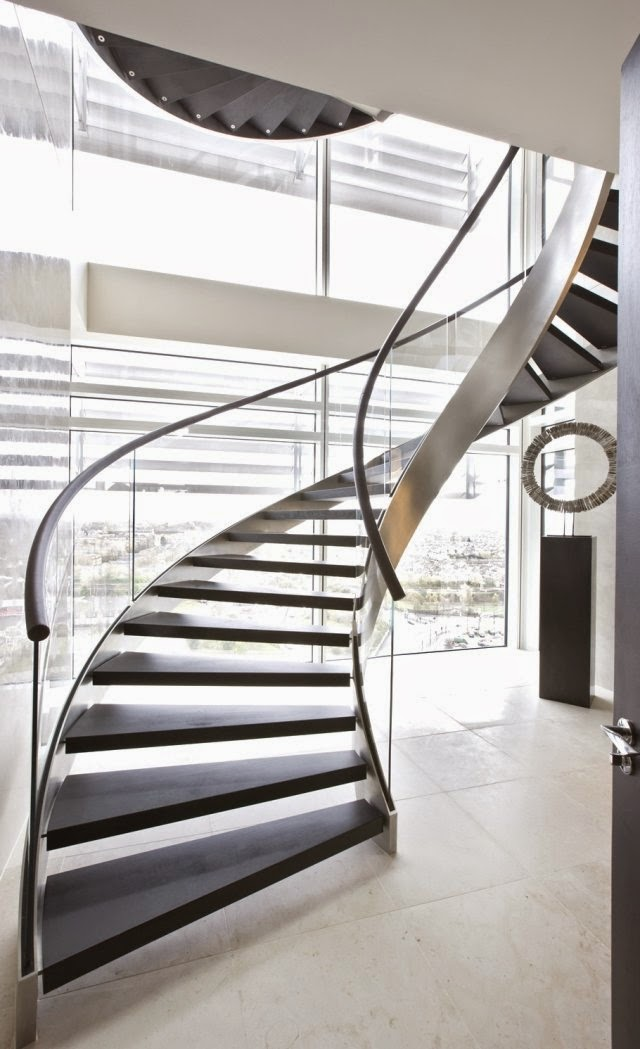 contemporary-modern-curved stairs - 8