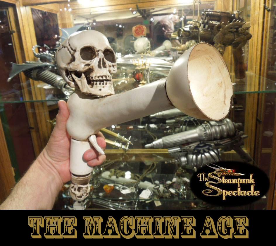 Halloween-Giveaway-Handcrafted Skull 'Gun'-Steampunk