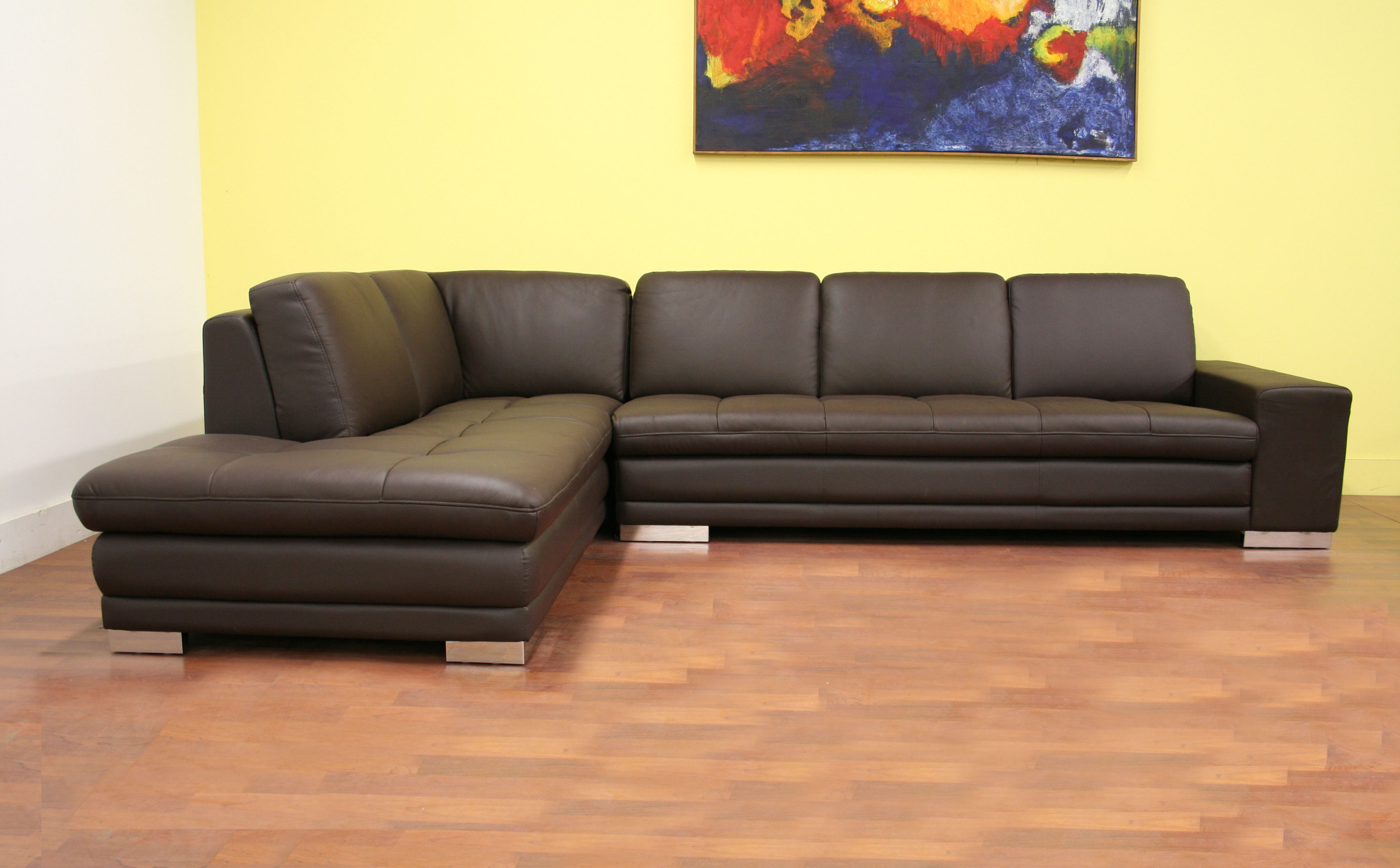 Baxton+Studio+Callidora+Dark+Brown+Leather-Leather+Match+Sofa+Sectional+Reverse-DEBAdoTELL