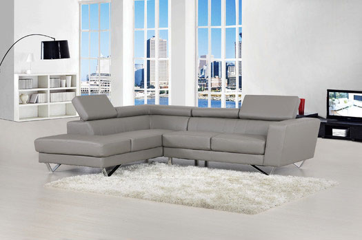 Delia+Grey+Bonded+Leather+Modern+Sectional+Sofa+Set