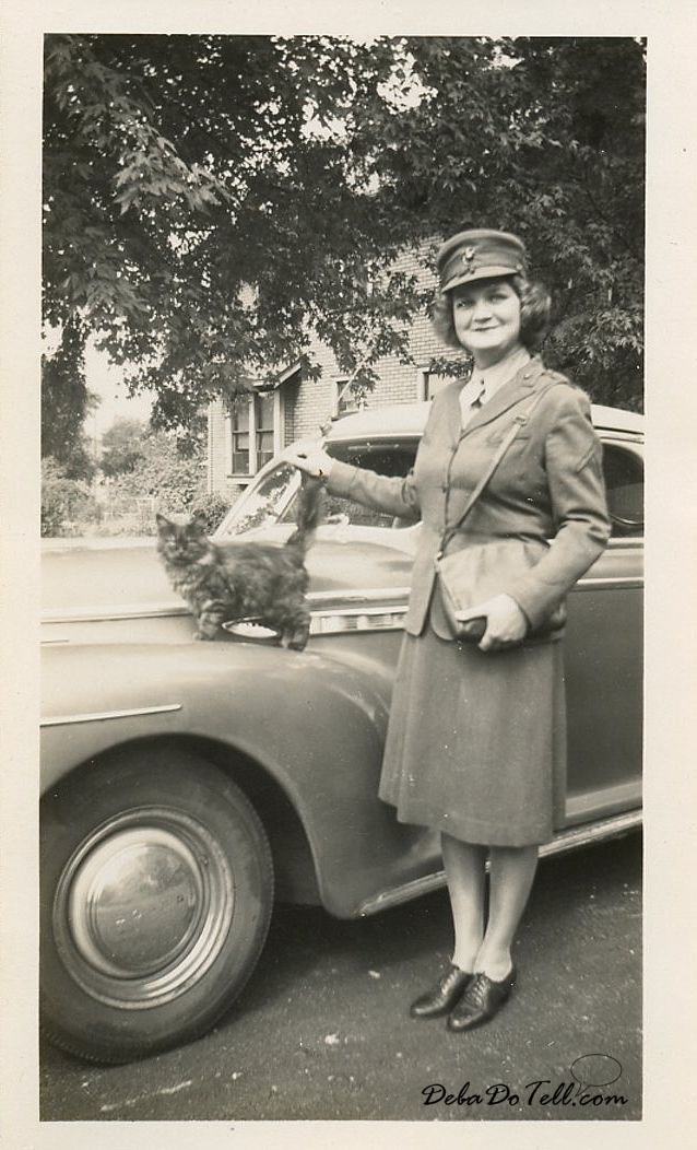 Vintage Woman Soldier-with-cat -7- DebaDoTell-blog - Deborah+Reed